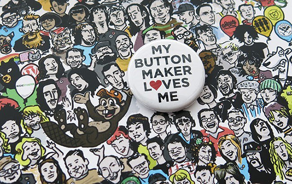 My Button Maker Loves Me pin