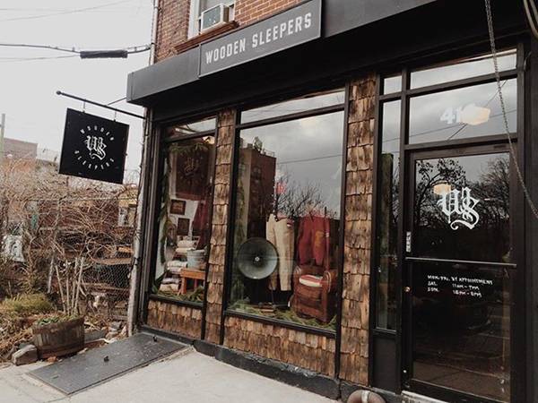 wooden sleepers store front