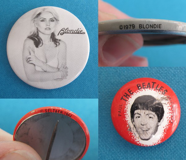 Blondie band buttons