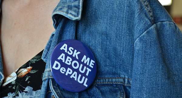 DePaul University button