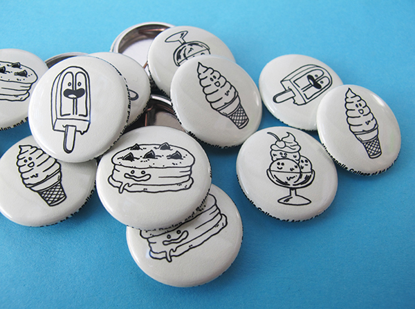 Minneapolis School of Art and Design ice cream buttons