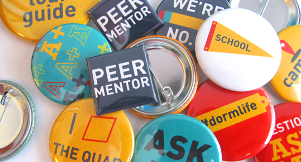 peer to peer mentor button