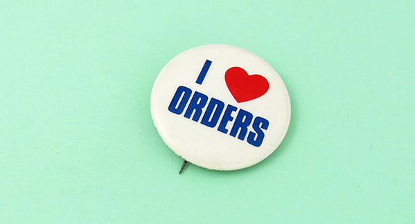 I heart orders button