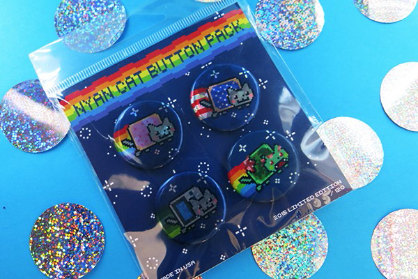 Nyan Cat button packs