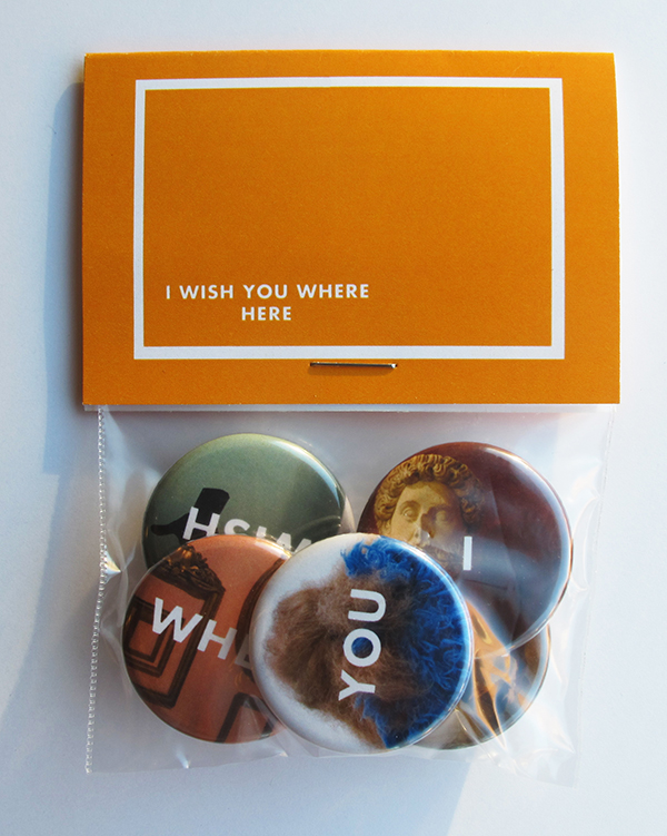 'I Wish You Where Here' Button Pack