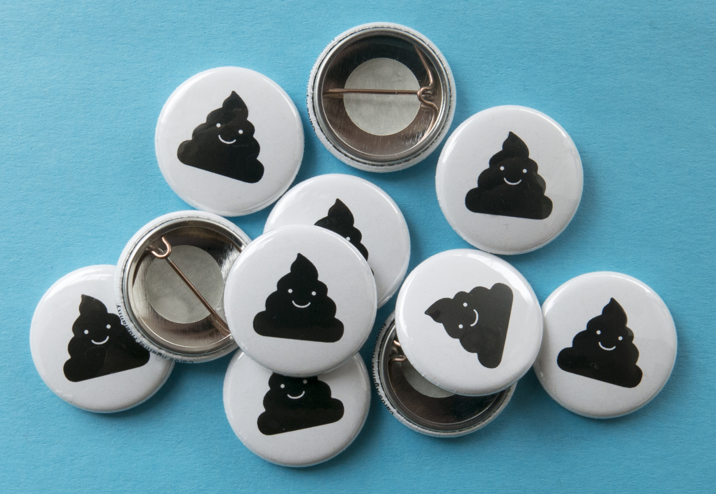Cards Against Humanity Poop Buttons