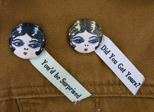 matching historic flapper buttons with ribbons