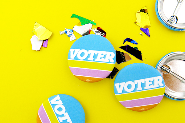 matte voting buttons