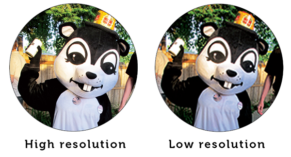 showing the difference between low resolution and high resolution graphics