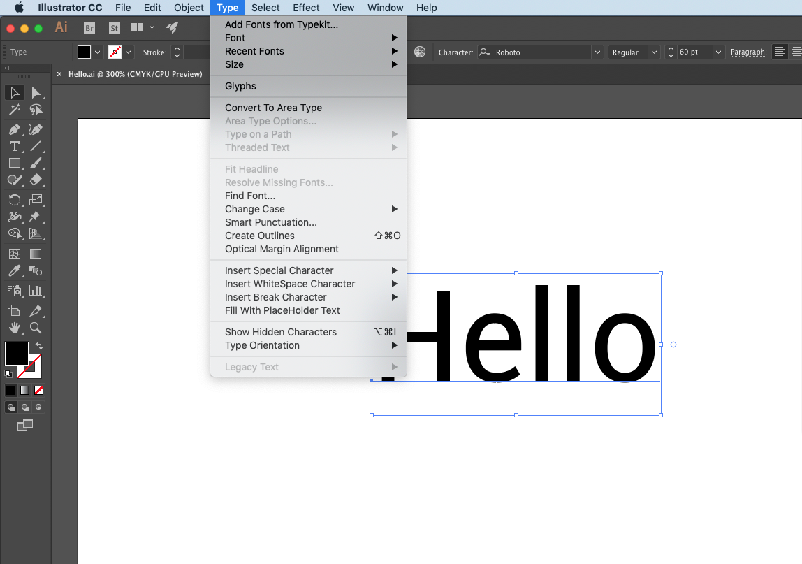 adobe illustrator how to outline fonts