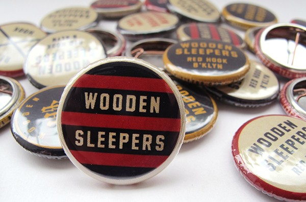 wooden sleepers custom buttons