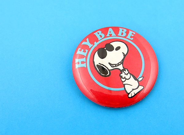Joe Cool Snoopy Button