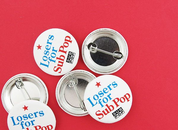 subpop matte finish buttons