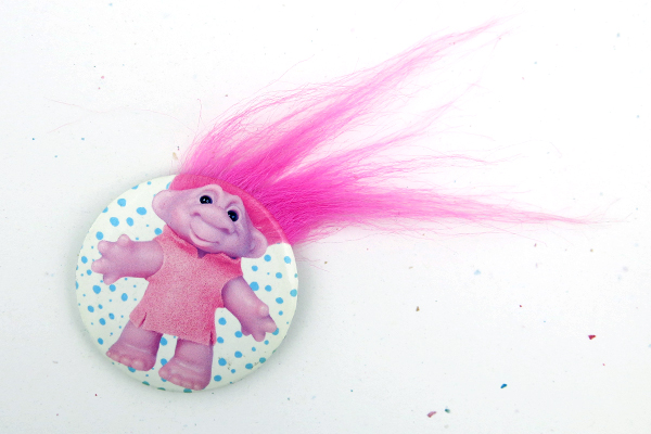 troll hair buttons